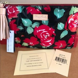 Dooney and Bourke Rose Garden Patent Clutch